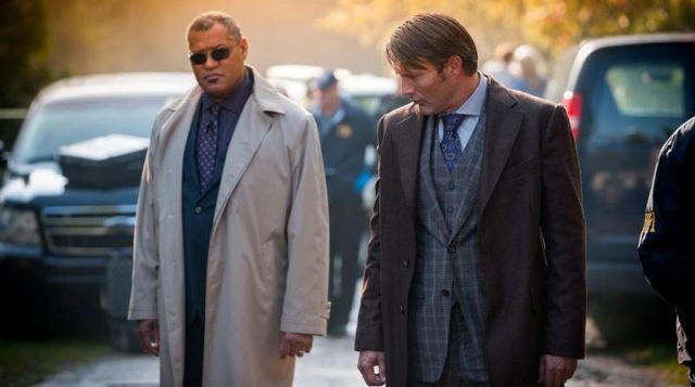 La cravate du Dr Hannibal Lecter (Mads Mickelsen) dans Hannibal