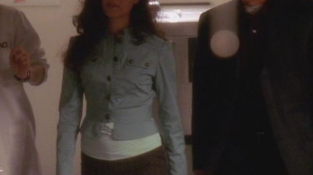The blue jacket of Ziva David (Cote de Pablo) on NCIS season
