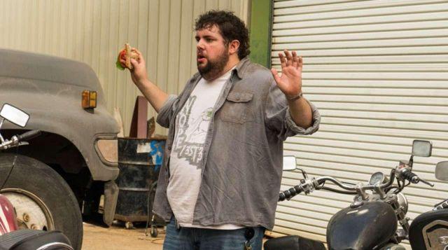 Le t-shirt Nope 3ST3R de Fat Joey (Joshua Hoover) dans The Walking Dead S07E08