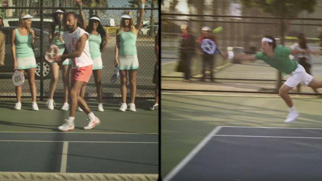 Les sneakers Nike blanches et rouges de Bob Sinclar dans son clip Summer Moonlight