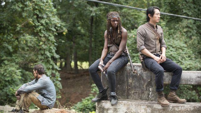Boots worn by Glenn Rhee (Steven Yeun) as seen in The Walking Dead S05E10