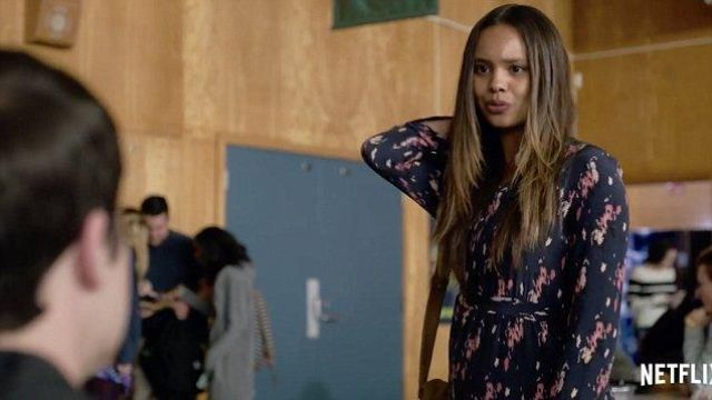 Floral Dress worn by Jessica Davis (Alisha Boe) as seen in 13 reasons why S02E03