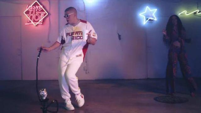 Sneakers Nike Bad Bunny in the clip I Like It Cardi B feat. Bad Bunny & J Balvin