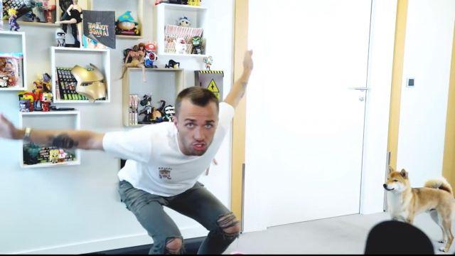 """Le jean porté par Squeezie dans sa vidéo YouTube """"Ce jeu Détrônera Fortnite !"""""""