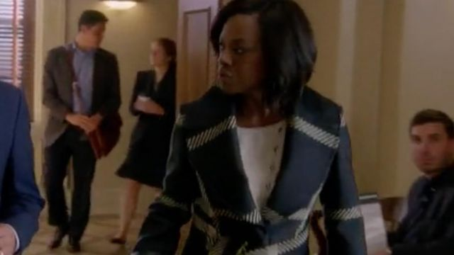 Plaid Coat worn by Annalise Keating (Viola Davis) as seen in How To Get Away With Murder S05E07