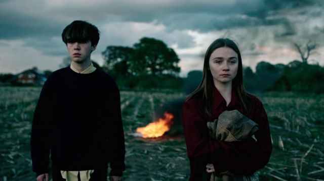 Sweater worn by James (Alex Lawther) as seen in The End of the F***ing World S01E04