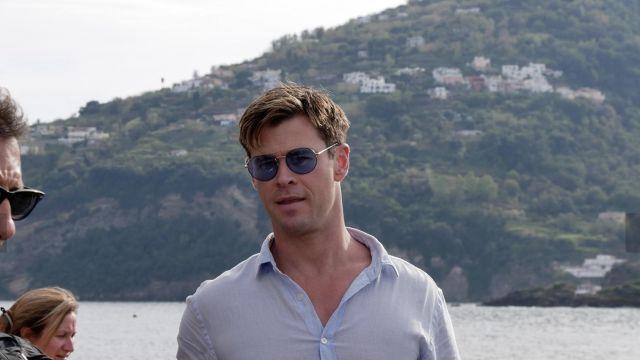 factory price authentic affordable price Bleu Lunettes de soleil portées par l'Agent de H (Chris ...