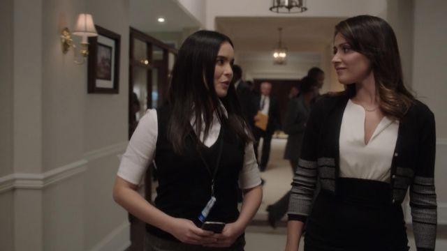 Black And Gray Cardigan With Buttons Worn By Emily Rhodes Italia Ricci In Designated Survivor S02e06 Spotern,Drawing Easy Elements And Principles Of Design Matrix