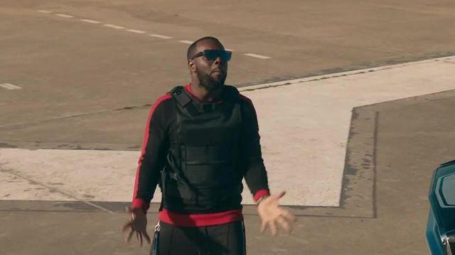 Les lunettes de soleil noires de Gims dans son clip Miami Vice