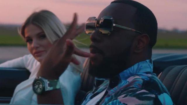 La chemise à fleurs de Gims dans son clip Miami Vice
