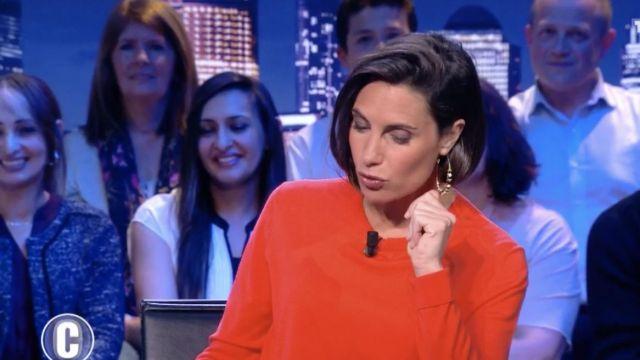 Les boucles d'oreilles créoles portées par Alessandra Sublet dans C'est Canteloup du 3 mai 2019