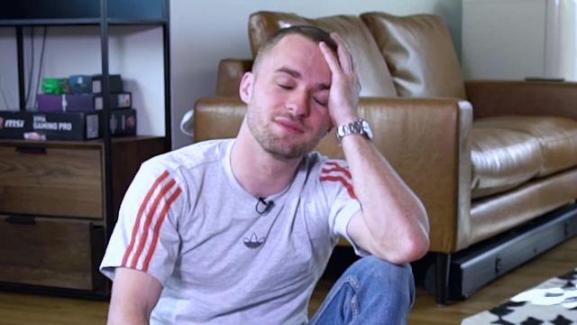 Le t-shirt Adidas de Squeezie dans sa vidéo YouTube Mon chien est le plus intelligent (objectivement)