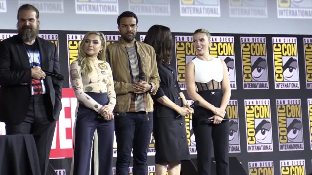 Top worn by Scarlet Johansson for Black Widow 2019 Marvel Comic Con Panel