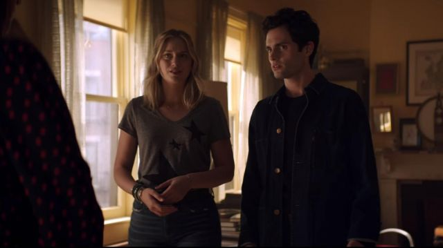 Denim Jacket worn by Joe Goldberg (Penn Badgley) in YOU (S01E05)