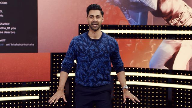 Sweater worn by Hasan Minhaj in Patriot Act with Hasan Minhaj (S04E01)