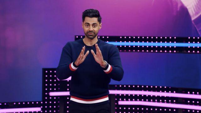 Sweater worn by Hasan Minhaj in Patriot Act with Hasan Minhaj (S04E02)