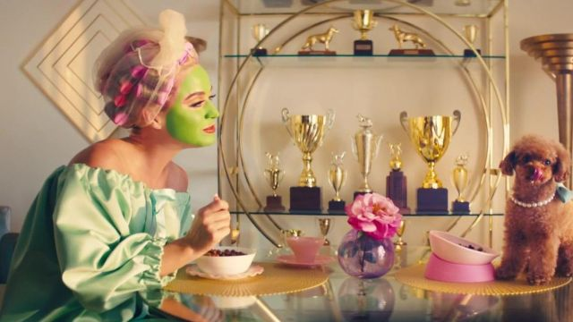 Green dress worn by Katy Perry in her Small Talk music video