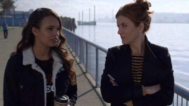 The jacket Jessica Davis (Alisha Boe) in 13 Reasons Why (S03E10)