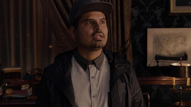 Grey Collared button shirt worn by Luis (Michael Peña) as seen in Ant-Man