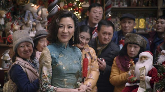 Asian Embroidered Tunic worn by Santa (Michelle Yeoh) as seen in Last Christmas
