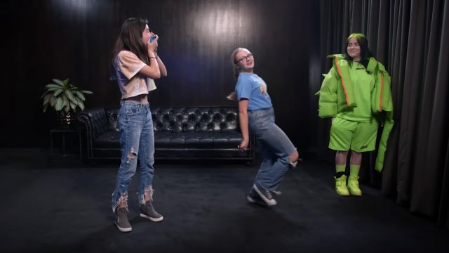 Lime Green sneakers worn by Billie Eilish forBillie Eilish Surprises Her Biggest Fans | Just Dance 2020