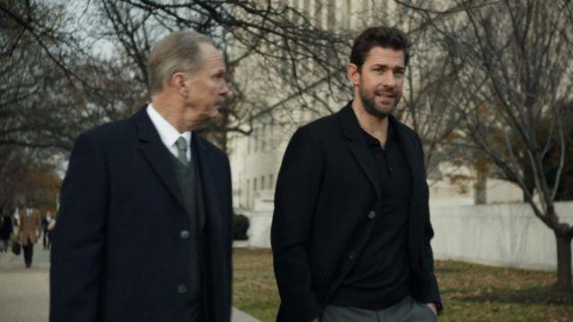 Lightweight 3/4 length black jacket worn by Jack Ryan (John Krasinski) in Tom Clancy's Jack Ryan (S02E08)