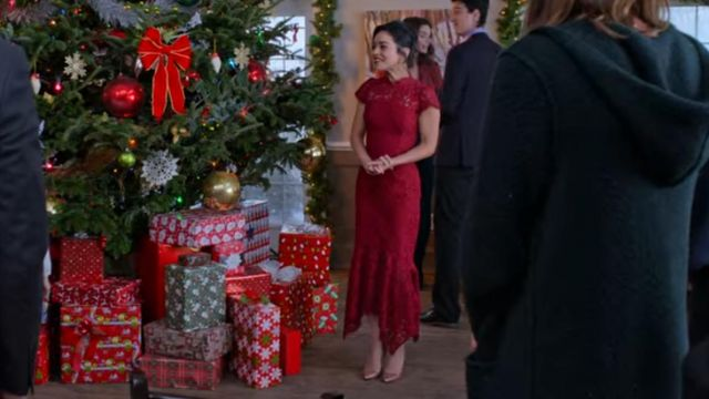 The red dress worn by Brooke (Vanessa