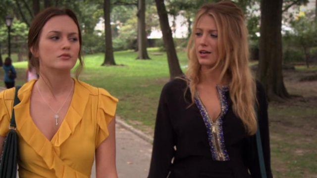 La blouse fluide noire de Serena van der Woodsen (Blake Lively) dans Gossip Girl (S03E03)