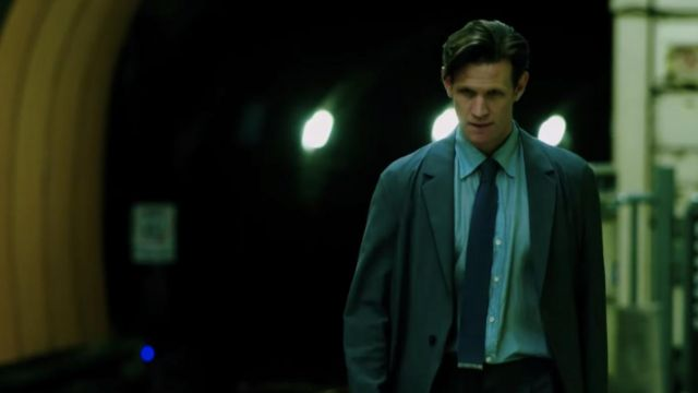 Blue tie worn by Loxias Crown (Matt Smith) as seen in Morbius