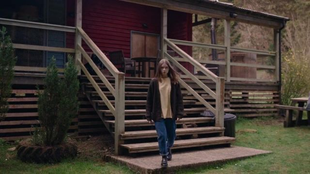 Brown Cardigan worn by Alyssa (Jessica Barden) as seen in The End of the F***ing World