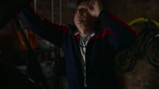 Fila Zip Track jacket worn by Doug Tripp (Shaun Dooley) as seen in The Stranger (S01E08)