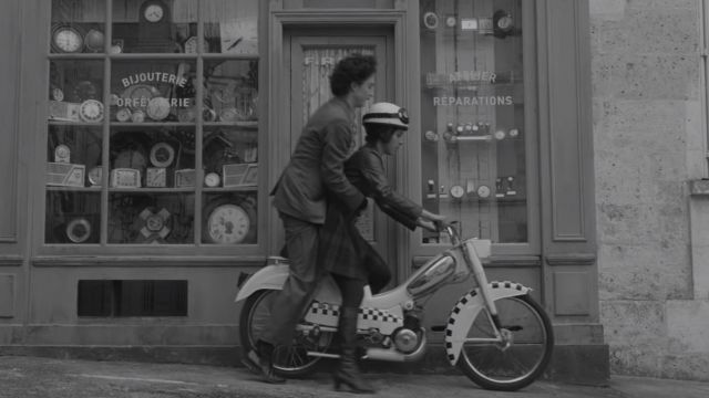 Moped Motorcycle driven by Zeffirelli (Lyna Khoudri) in The French Dispatch of the Liberty, Kansas Evening Sun