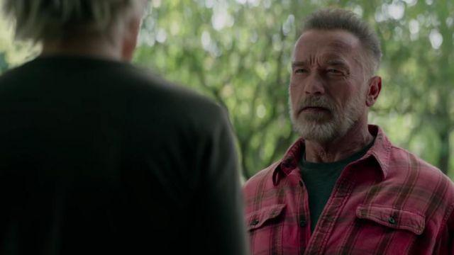 Red plaid shirt worn by T-800 / Carl (Arnold Schwarzenegger) as seen in Terminator: Dark Fate