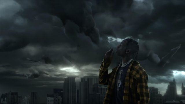 Yellow Flannel worn by Travis Scott in his Highest in The room
