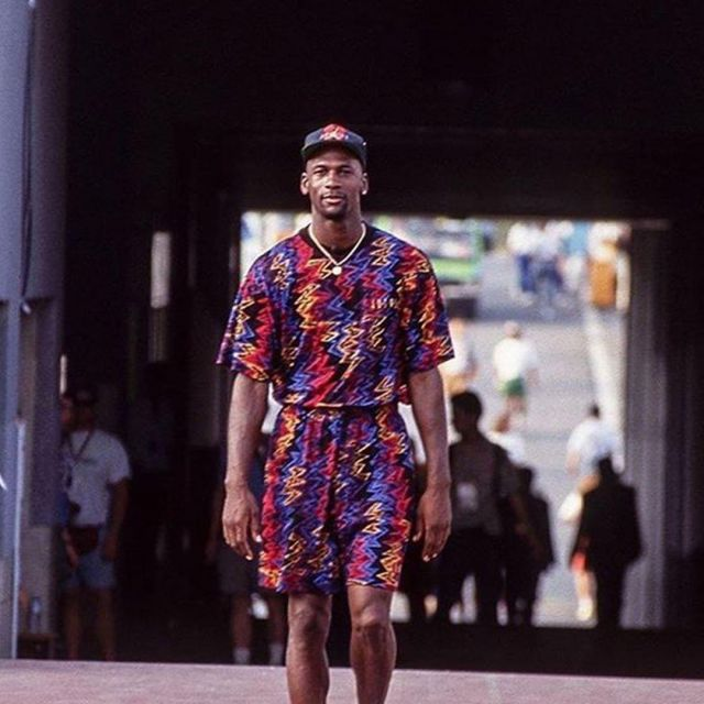 shorts printed worn by Michael Jordan