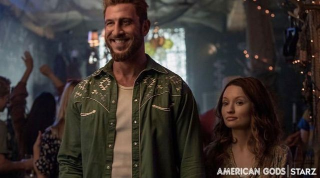 Green shirt worn by Mad Sweeney (Pablo Schreiber) in American Gods
