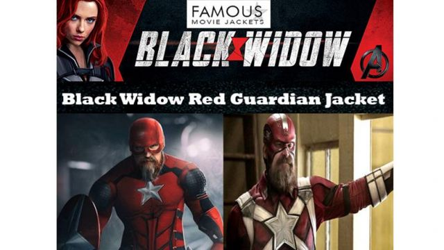Buy Black Widow Red Guardian Jacket made in faux leather at discounted price with free shipping worldwide Order Now! of Alexei Shostakov / Red Guardian (David Harbour) in Black Widow