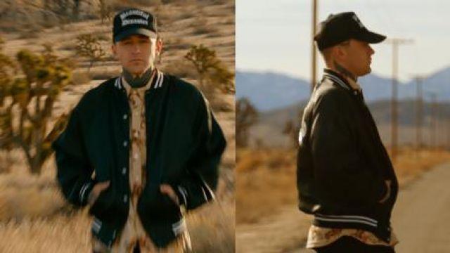 Baseball jacket of Arizona Zervas in ROXANNE