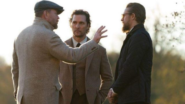 The wool coat worn by (Guy Ritchie) while directing The Gentlemen