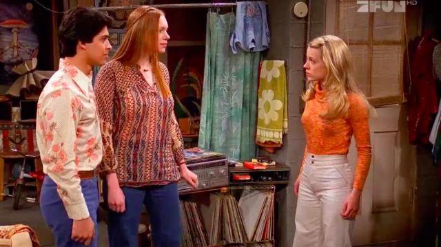 White high waisted pants worn by Caroline (Allison Munn) in That '70s Show (S03E20)