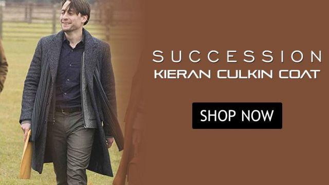 Roman Roy Succession SO2 Wool Trench Coat worn by Kieran Culkin (Kieran Culkin) in Succession