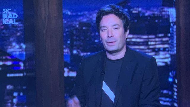 Slash t-shirt worn by Jimmy Fallon in Late Night with Jimmy Fallon