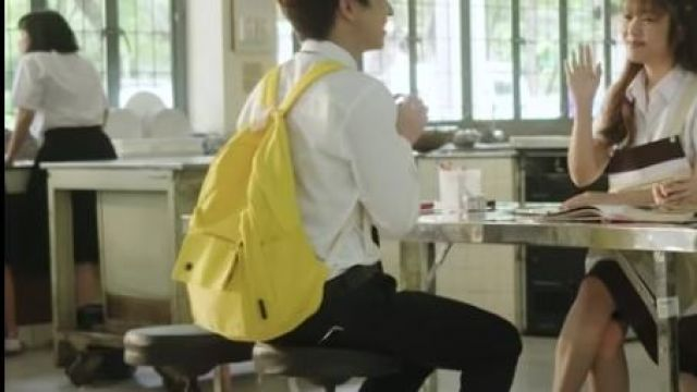 The bookbag that Pharm has in the show Pharm (Natouch Siripongthon) in Until We Meet Again The Series (S01E01)