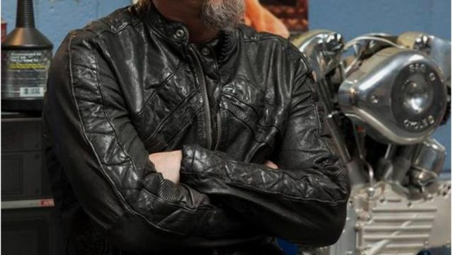 Jacket of Filip 'Chibs' Telford (Tommy Flanagan) in Sons of Anarchy (S07E13)