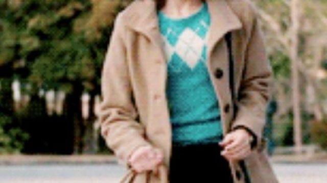 Turquoise Argyle One striped sweater  of Nancy Wheeler Natalia Dyer in Stranger Things