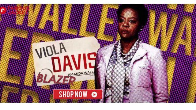 Viola Davis The Suicide Squad 2021 Amanda Waller Pink Blazer of Amanda Waller (Viola Davis) in The Suicide Squad