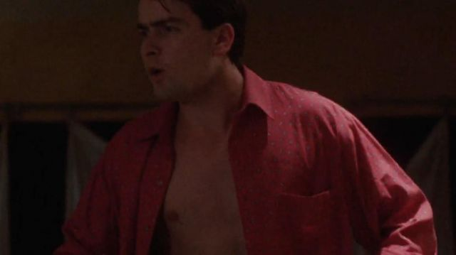 Red shirt worn by Bud Fox (Charlie Sheen) in Wall Street