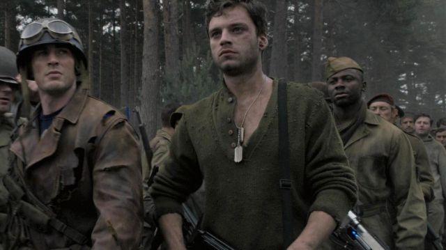 Green long sleeve shirt of James Buchanan 'Bucky' Barnes (Sebastian Stan) in Captain America: The First Avenger