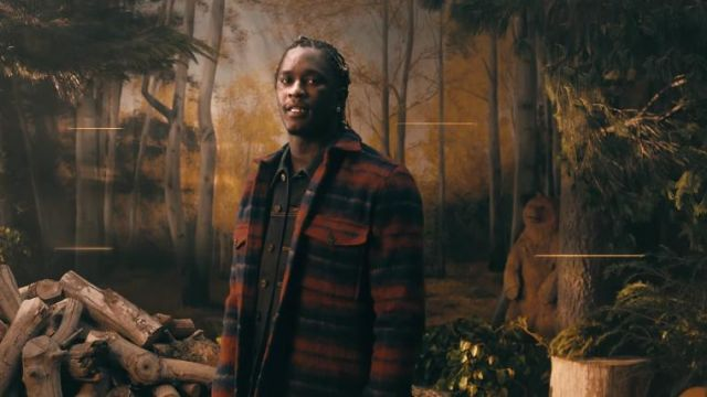 Flannel wool shirt jacket worn by Young Thug in Way 2 Sexy Official Music Video by Drake ft. Future and Young Thug
