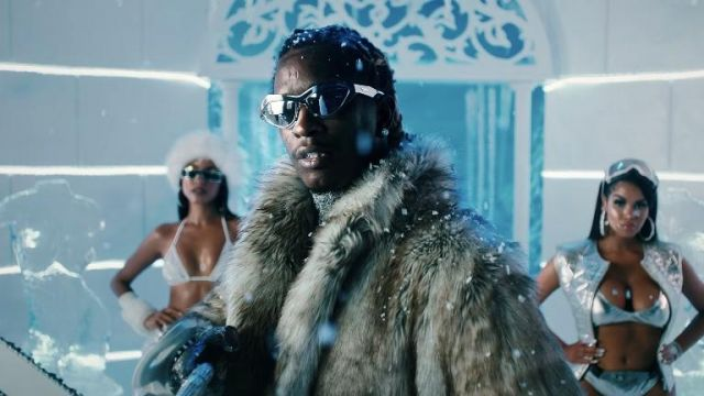 Sunglasses worn by Young Thug in Way 2 Sexy Official Music Video by Drake ft. Future and Young Thug